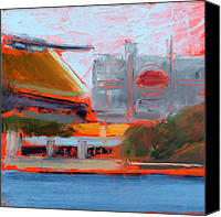 Steelers Canvas Prints - RCNpaintings.com Canvas Print by Chris N Rohrbach