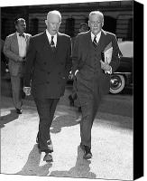 General Dwight D Eisenhower Photo Canvas Prints - Dwight D. Eisenhower Canvas Print by Granger