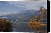 Lago Canvas Prints - Lake Maggiore Canvas Print by Joana Kruse