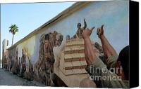 Iraq Canvas Prints - 29 Palms Mural 4 Canvas Print by Bob Christopher