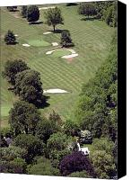 Phila Cricket Canvas Prints - 2nd Hole Philadelphia Cricket Club St Martins Golf Course Canvas Print by Duncan Pearson