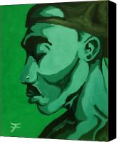 2pac Canvas Prints - 2Pac 4Ever Canvas Print by Jason JaFleu Fleurant