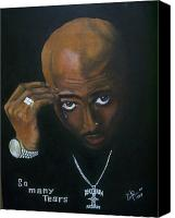 2pac Canvas Prints - 2pac Shakur so many tears Canvas Print by Pierre  Etienne