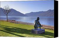 Mountain Sculpture Photo Canvas Prints - Ascona - Lake Maggiore Canvas Print by Joana Kruse