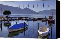 Motor Boats Canvas Prints - Ascona Canvas Print by Joana Kruse