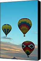 Balloon Fiesta Canvas Prints - 3 at Dawn Canvas Print by Jim Chamberlain