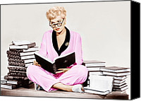 Pajamas Canvas Prints - Born Yesterday, Judy Holliday, 1950 Canvas Print by Everett