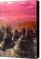Inodnesia Canvas Prints - Borobudor Temple Canvas Print by Gloria & Richard Maschmeyer - Printscapes