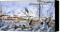 Tea Party Canvas Prints - Boston Tea Party, 1773 Canvas Print by Granger