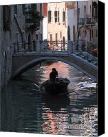Pont Canvas Prints - Canal. Venice Canvas Print by Bernard Jaubert