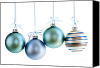 Sparkling Canvas Prints - Christmas ornaments Canvas Print by Elena Elisseeva
