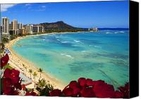 Waikiki Canvas Prints - Classic Waikiki Canvas Print by Tomas del Amo - Printscapes