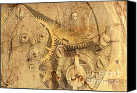 Dial Digital Art Canvas Prints - Clockwork Mechanism Canvas Print by Michal Boubin
