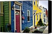 House Canvas Prints - Colorful houses in St. Johns Canvas Print by Elena Elisseeva