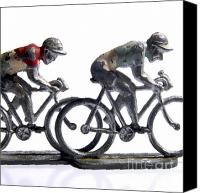 Cycle Canvas Prints - Cyclists Canvas Print by Bernard Jaubert