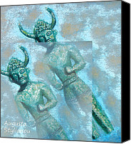 Apollon Hylatis Digital Art Canvas Prints - Cyprus Gods of Trade. Canvas Print by Augusta Stylianou