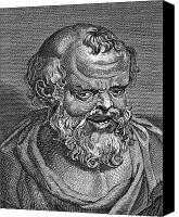 4th Canvas Prints - DEMOCRITUS (c460-c370 B.C.) Canvas Print by Granger