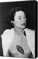 1950s Fashion Canvas Prints - Duchess Of Windsor Wallis Simpson Canvas Print by Everett