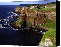 Ruins Canvas Prints - Dunluce Castle, Co. Antrim, Ireland Canvas Print by The Irish Image Collection