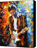 Original Art Canvas Prints - Eric Clapton Canvas Print by Leonid Afremov