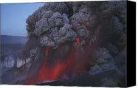 Eruption Canvas Prints - Eyjafjallajökull Eruption, Summit Canvas Print by Martin Rietze