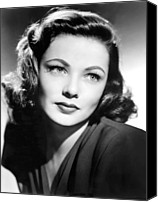 1940s Portraits Canvas Prints - Gene Tierney, Circa 1940s Canvas Print by Everett