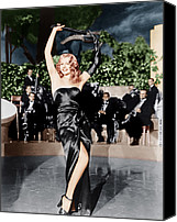 Opera Gloves Canvas Prints - Gilda, Rita Hayworth, 1946 Canvas Print by Everett