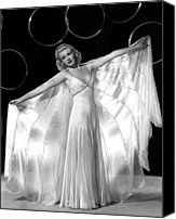 Satin Dress Canvas Prints - Ginger Rogers, In A Publicity Portrait Canvas Print by Everett