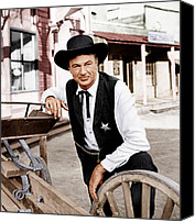 1950s Movies Canvas Prints - High Noon, Gary Cooper, 1952 Canvas Print by Everett