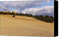 Hill Town Canvas Prints - Hill Town of Pienza Canvas Print by Jeremy Woodhouse