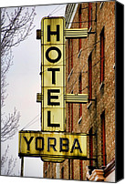 3rd Canvas Prints - Hotel Yorba Canvas Print by Gordon Dean II