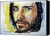 Singer Painting Canvas Prints - Jared Leto Canvas Print by Francoise Dugourd-Caput
