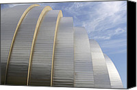 Unique Structure Canvas Prints - Kauffman Center for Performing Arts Canvas Print by Mike McGlothlen