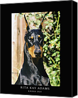 Dobe Canvas Prints - Knock Out Canvas Print by Rita Kay Adams