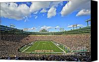 Green Canvas Prints - Lambeau Field  Canvas Print by Steve Sturgill