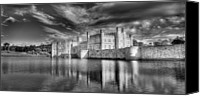 Manor Canvas Prints - Leeds Castle Reflections Canvas Print by Chris Thaxter