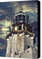 Storm Photo Canvas Prints - Lighthouse Canvas Print by Joana Kruse