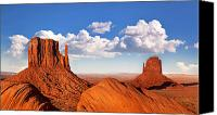 Arid Canvas Prints - Monument Valley Canvas Print by Jane Rix