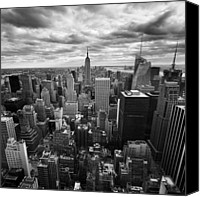 Nyc Photo Canvas Prints - NYC Empire Canvas Print by Nina Papiorek