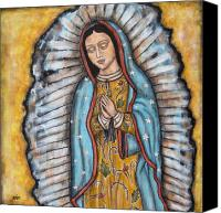 Virgen De Guadalupe Canvas Prints - Our Lady of Guadalupe Canvas Print by Rain Ririn