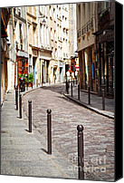 Architecture Photo Canvas Prints - Paris street Canvas Print by Elena Elisseeva