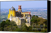 Unesco Canvas Prints - Pena Palace Canvas Print by Carlos Caetano
