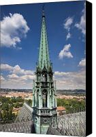 Charles Bridge Canvas Prints - Prague Cathedral Canvas Print by Andre Goncalves