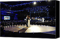 Bswh052011 Canvas Prints - President And Michelle Obama Canvas Print by Everett