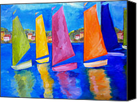 Sailing Canvas Prints - Reflections of Tortola Canvas Print by Patti Schermerhorn