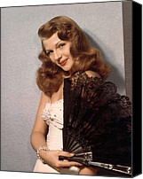1940s Portraits Canvas Prints - Rita Hayworth, Ca. 1940s Canvas Print by Everett