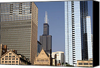 Sears Tower Canvas Prints - Sears Tower Canvas Print by Ely Arsha