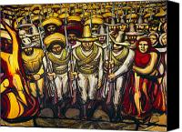 Social Canvas Prints - SIQUEIROS: MURAL, 1950s Canvas Print by Granger
