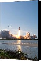 Billows Canvas Prints - Space Shuttle Discovery Launch Canvas Print by Stocktrek Images