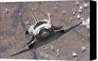 Approaching Canvas Prints - Space Shuttle Discovery Canvas Print by Stocktrek Images